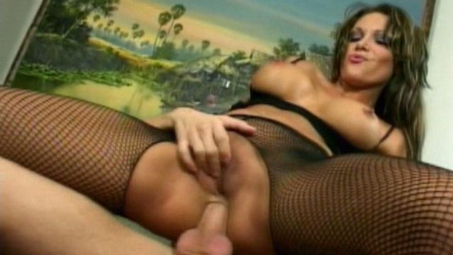 Pleasant Brunette Milf In Fishnets Ana Nova Leaping Anally A Huge Pnor