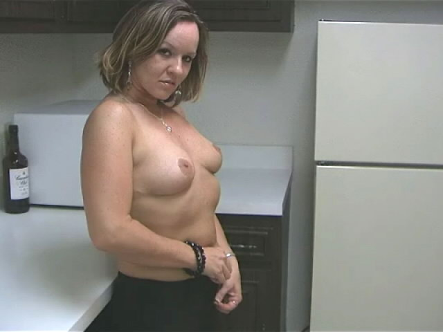 Sensuous Light-haired Wifey Tessa Rubbing Her Sumptuous Assets With Eagerness Within The Kitchen