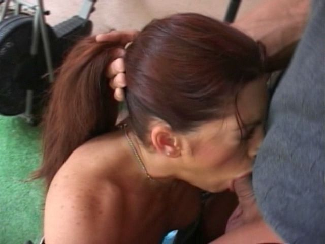 Auburn Haired Mummy Aria Getting Jaws Humped And Guzzling Super-hot Wad Within The Gymnasium