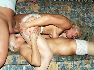 Hefty Grandmothers Having A 3some